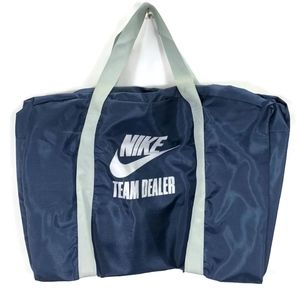 Vintage Nike Blue Tag 80s Team Dealer Duffel Bag